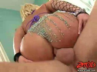 Breasty rubio georgia peach gets asspounded y gets un confuso disparo de corrida