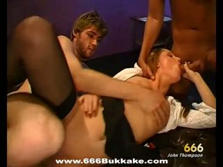 Babes faces filled with cumshot