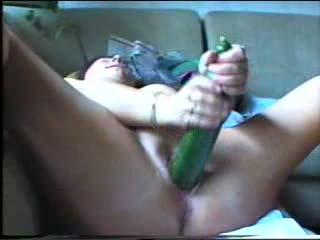 Kåt stor vegetabilsk penetration video