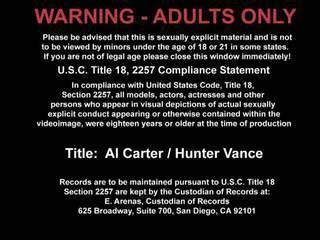 Al Carter And Hunter Vance