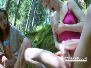 Outdoors puss solo with Lesbos