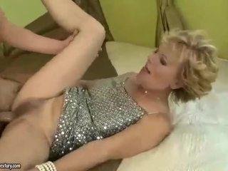 Busty grandma gets fucked