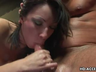 Chloe Morgan deep throats a cock in the gym Video