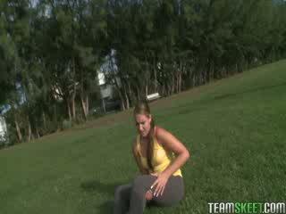TheRealWorkout Big ass blonde Nikki Stone hardcore fucked