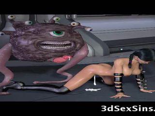Ogres dan aliens apaan 3d elf gadis!