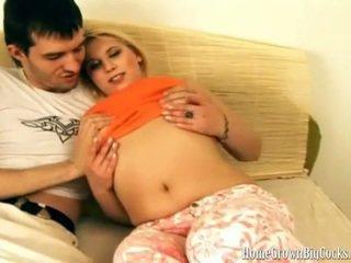 Luba loves feit kuk opp henne liten rumpe