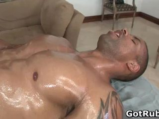 Hot Guy Acquire His Amazing Body Massaged