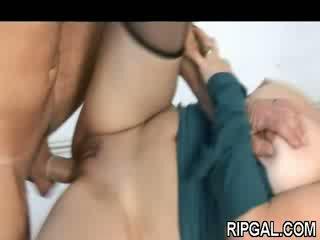 Man fingers and fucks gal
