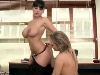 Lascivious Paramour Alison Star Glides Her Sugary Tongue Nice On Her Friend's Pussy