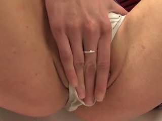 Piss: Pissing loving young wetting her panties