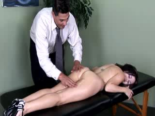 Patient gets a thorough examination of her naked body