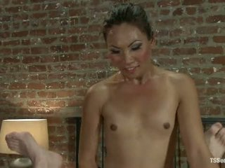 Brand New Ts Fucking Sensation Annalise Rose At A Swinger Party