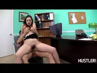 Pornstar Rucca Page slamming her warm snatch up and down a massive dick
