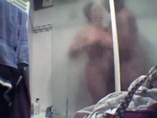 Amateur old couple has sex in the shower Video