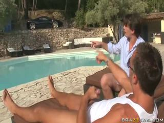 French Fuckfest With Sharon Lee, Discharged In Hd