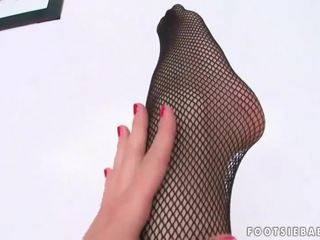 fishnet, foot fetish, sexy legs, foot worship