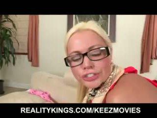 Busty blonde step-mom fucks her daughter's boyfriend
