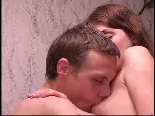 German cute teen schoolgirl in uniform amateur upskirt sex with Brother