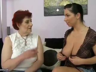 Бабця порно
