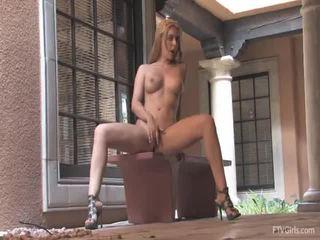 Katey Nearly Receives Caught Masturbating Outside