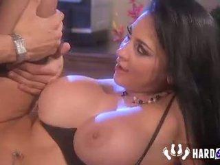 brunette full, nice big boobs you, blowjob hot