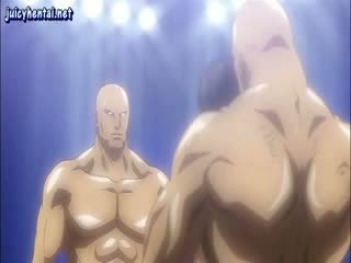 Animated fighter gets μουνί licked
