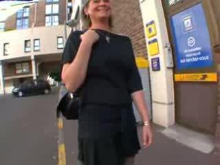 Coralie prancūziškas suaugę į ilgos kojinės, analinis pakliuvom