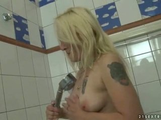 Lusty granny sucking and riding cock
