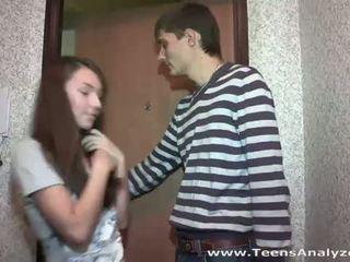 Teens Analyzed: Teen girlfriend agrees to anal sex