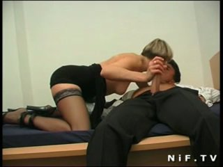 French milf in stockings sodomized