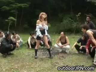 japonec horký, jmenovitý skupinový sex čerstvý, interracial volný