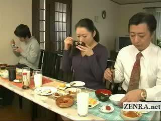 Subtitled bizarre японська bottomless немає трусики сім'я