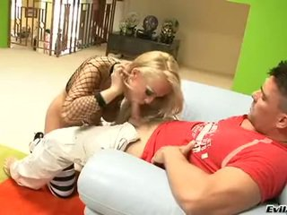 Jessica Moore Blonde Playgirl In Net Blouse Fuck On Zeppelins