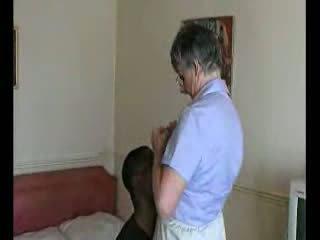 Ebony Guy Fucks His Old Maid Video