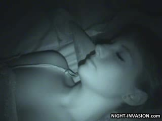 性感 娃娃 fingered 在 睡觉