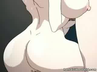 Loads van hentai cumshot gieten uit van haar beide holes