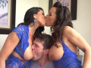 Lisa Ann and Romi Rain shares one lucky man