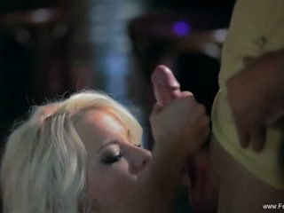 Sparkle Job For Erotic Blonde MILF