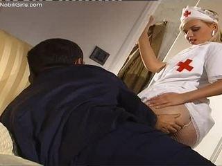 Horny Blonde Nurse Sucking Hard Patient's Cock