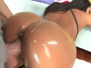 Jenaveve Jolie sexy babe ass fuck with lots of oil
