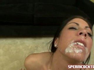 Cum paramour eva ellington gets en loadful av jock batter i henne söta mun