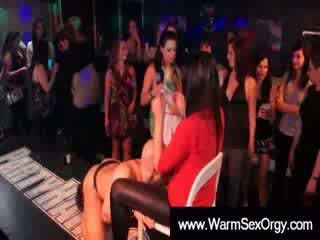 Horny cfnm girls getting lapdances and undressing themselfs