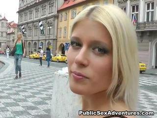 Imbecilic Public Screwing Around Sensuous Blonde Dame