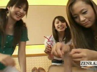 Subtitles cfnm ιαπωνικό ομάδα περίεργο ακροβυστία φλιτζάνι