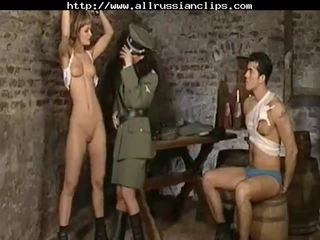Dominant russians abuso prisoners russa cumshots engolida