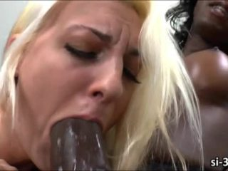 Black shemale Chanel Couture rips girls pussy