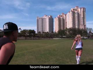 Therealworkout špinavý blondýnka addison avery vyrobený láska po football výcvik