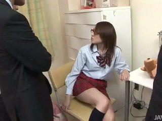 Nhật bản thiếu niên rino mizusawa sừng đòn đập