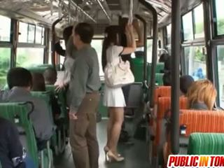 Yuu Asakura Ass Is Rubbed With A Cock On The Bus