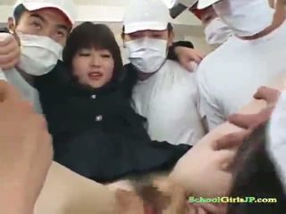 Japanese Schoolgirl Licked And Fingered While Sucking Cocks
